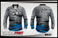 Desain Kaos Sepeda BMX Code Walley Bergaya Ornamen Modern