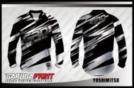 Desain Baju Sepeda MTB Code Yoshimitsu Warna Hitam Abu Berkharismatik