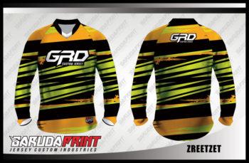 Desain Baju Sepeda Downhill Code Zreetzet Motif Zig Zag Kekinian