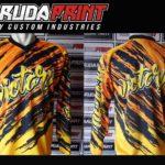 Baju Sepeda Printing Warna Coklat Yang Menawan