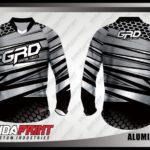 Baju Sepeda Printing Warna Hitam Abu Abu Untuk Tampil Lebih Gagah
