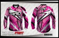 Baju Sepeda Custom Warna Pink Motif Zig Zag Yang Kekinian