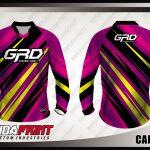 Kaos Sepeda Full Print Warna Ungu Motif Diagonal Yang Dinamis