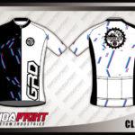 Jersey Sepeda Printing Warna Hitam Putih Bernuansa Klasik