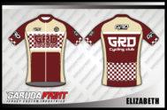Kaos Sepeda Full Print Lengan Pendek Gradasi Warna Coklat Paling Keren
