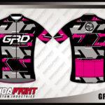 Baju Sepeda Printing Warna Hitam Pink Bikin Kamu Tampil Beda