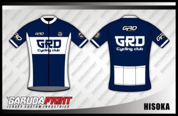 Jersey Sepeda Custom Warna Biru Putih Tampil Lebih Elegan