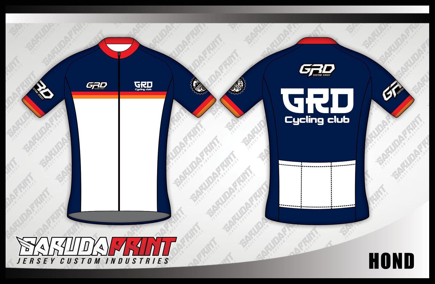 Kaos Sepeda Printing Warna Biru Putih Lengan Pendek Terbaru