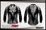 Jersey Sepeda Custom Lengan Panjang Warna Hitam Abu Abu