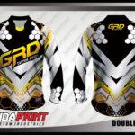 Baju Sepeda Full Print Warna Hitam Putih Kuning Yang Terbaru