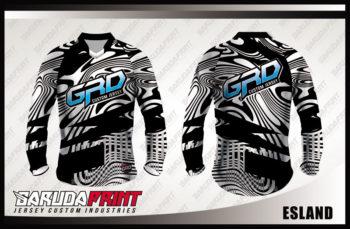 Jersey Sepeda Full Print Warna Hitam Putih Motif Bergelombang