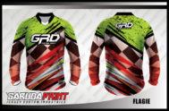 Kaos Sepeda Full Print Motif Kotak-Kotak Zig Zag Terbaru