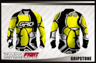 Kaos Sepeda Custom Warna Kuning Hitam Putih Yang Trendy