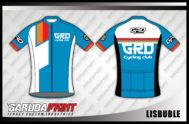 Jersey Sepeda Full Print Warna Biru Putih Yang Trendy