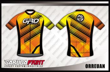 Baju Sepeda Printing Lengan Pendek Warna Orange Siap Tampil Beda