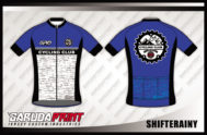 Jersey Sepeda Printing Warna Biru Lengan Pendek Paling Keren