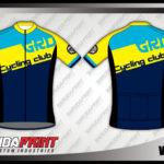 Kaos Sepeda Custom Warna Biru Kuning Hitam Paling Trendy