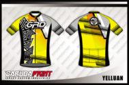 Baju Sepeda Full Print Warna Kuning Tampil Lebih Cool