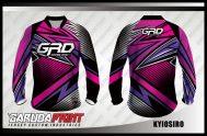 Kaos Sepeda Printing Warna Ungu Lengan Panjang Terbaru