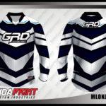 Jersey Sepeda Printing Warna Biru Putih Yang Menawan