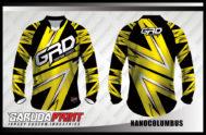 Kaos Sepeda Printing Warna Kuning Hitam Motif Zig Zag Terbaru
