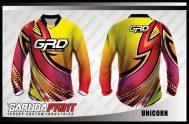 Jersey Sepeda Full Print Warna Kuning Bergelombang Tampil Beda